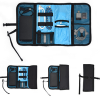 Foldable mobile phone accessary organizer pouch bag