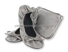 Foldable Roll Up Ballerina Shoes In Bag