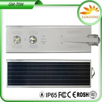 LED Solar Street Lighting 70 Watt solar energy street lights