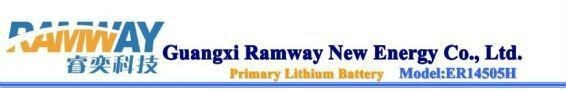 Ramway Lithium Primary Battery ER14505 for Electronic Toll Collection