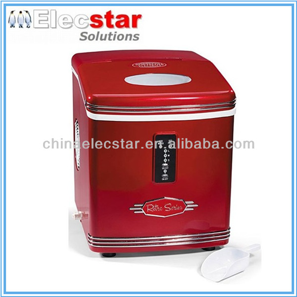 with CE/UL certificate, 12kg/15kg capacity countertop portable cube retro ice maker /small home ice maker/mini ice machine