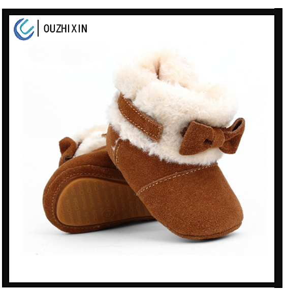Winter suitable wholesale soft sheepskin baby kids snow <strong>boots</strong>