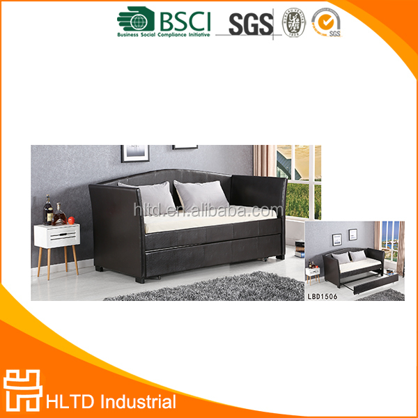 Modern style comfortable PU sofa bed with storage