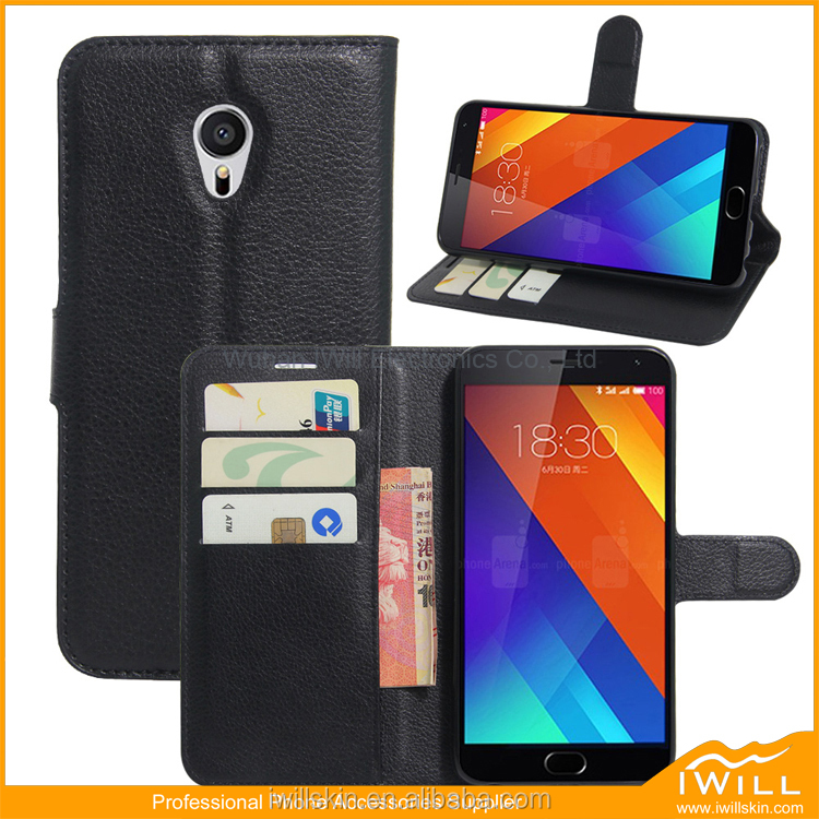 Card Slot Wallet Shell Hybrid PU Leather Book Cover For MEIZU MX6 Kickstand Case