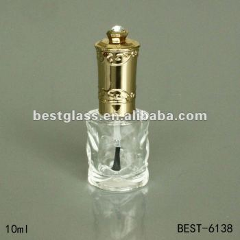 10ml nail polish bottle with gold cap,brush,nail polish