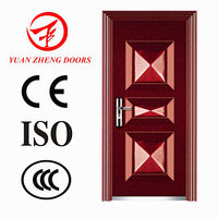 Main wooden color designs door entry steel doors in china making