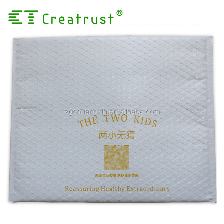 Waterproof co-extruded colored poly bubble mailer padded bag for fragile goods