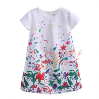 2016 Hot Selling Newest Girl Summer Dress With Floral Pattern Girl Causal Dress Fashion Girls Clothes DMGD81016-20Y