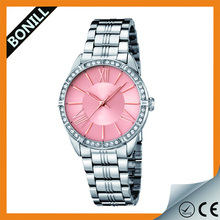China Cheaper Casual Geneva Diamond Watch Women Men Stainless Steel Unisex Luxury Quartz Watch