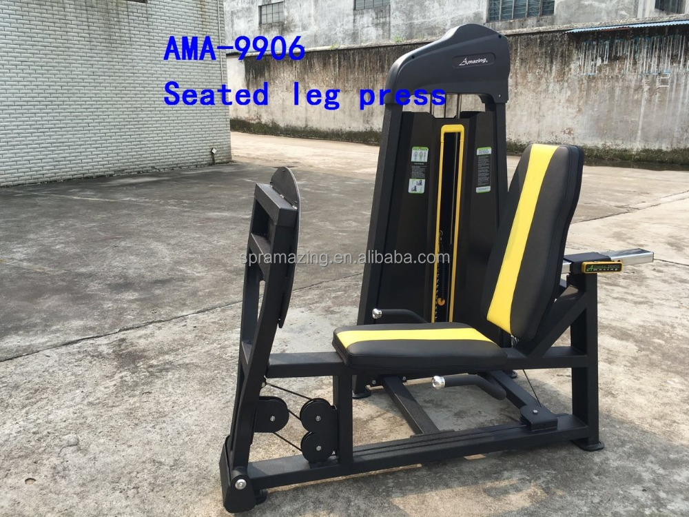 Vertical leg press machine for sale AMA-9906 liner leg press with 90kg weight stack