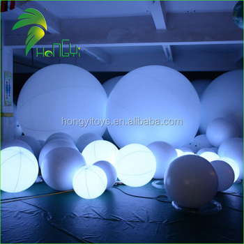 Customize Beautiful White PVC Flashing Led Balloon Lights For Party Events