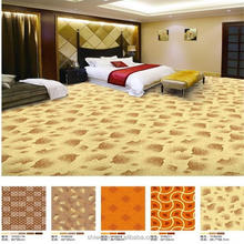 Pastel color printed 4m nylon floor carpet for star hotel