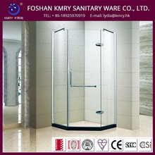 Lowest Cost Quality Guarantee Custom Fit Glass Diamond-Shape Shower Barn Door (KK3001)