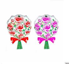 sweety 66*43cm helium foil self-sealing rose bouquet flower foil balloon for wedding/mother's day/Valentines Day decoration