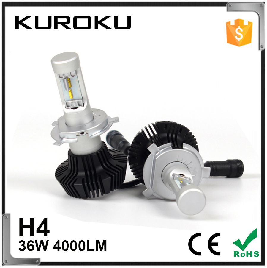 4000LM Factory Led headlight led H4 car LED Xenon hid kit 6000K