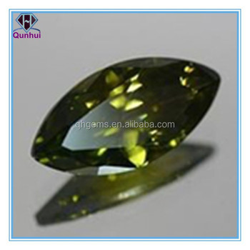 Impressive Marquise shaped Olive cubic zirconia
