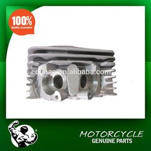 Zongshen 250cc air cooled motorcycle cylinder head with 2 muffler