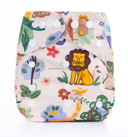 Free market united states 2014 prints cloth like diapers with liner