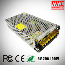 S-100-5 5V 20A 100W LED driver switching power supply with best quality and low price