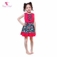 Top 100 little model children boutique clothing girls cotton outfits with ruffle designs pictures