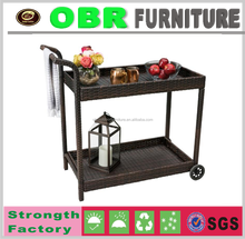 2017 HOT SALE Bar Mobile Food dining car rattan BAR furniture