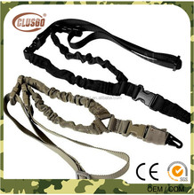 Adjustable 1000D Heavy Duty Tactical One 1 Single Point Sling Bungee Rifle Gun Sling Strap For Airsoft Hunting Military