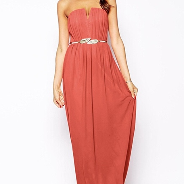 DY379W High fashion strapless long maxi party dress evening dress