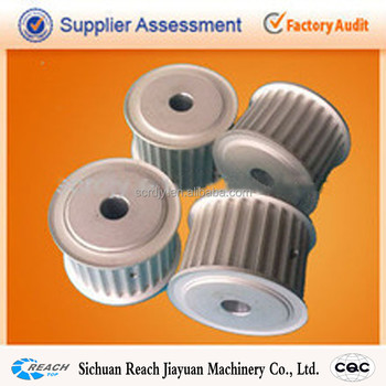 white anodizing aluminum timing pulley