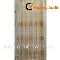 Embroidery Organza Curtain, Made Of Polyester