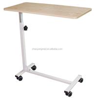 Wooden hospital bed dining table/adjusting hospital bed tray/hospital over bed table CY-H838