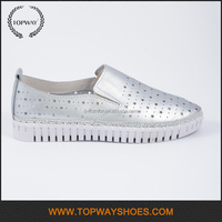 Handmade flat stitching threading unique women casual shoes for shopping
