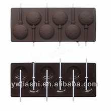 Hot Sale Smile Face Silicone Chocolate Lolly Moulds,Lollipop mold