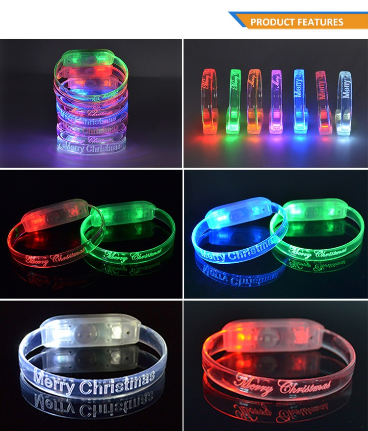 Factory Wholesale Best Price 4Gb 8Gb16Gb 32Gb Capacity LED glow in the dark silicone slap bracelet TZ-W230U