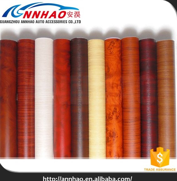 Self Adhensive Decoration PVC Sheet Wood Grain Laminated Foil Vinyl Door Covering