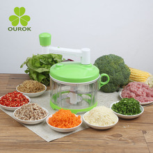 Plastic Vegetable Mincer with Prolonged Handle