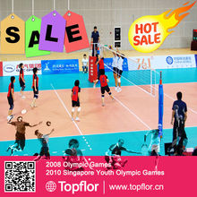 Volleyball Court PVC sports flooring used volleyball court sale