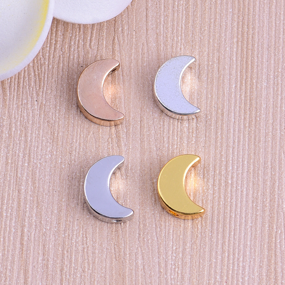 high Quality copper 4 colors Moon Charms <strong>pendant</strong> for Diy Jewelry Moon <strong>Pendant</strong> Charms Making Findings Wholesale