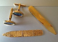 Cufflink 750 Solid Gold & Collar stay 916 Solid Gold