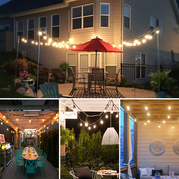 solar lawn lamp INST IP65 Waterproof 12 LED Light Bulbs,LED Solar Fairy String Lights With Big Crystal Ball Covers