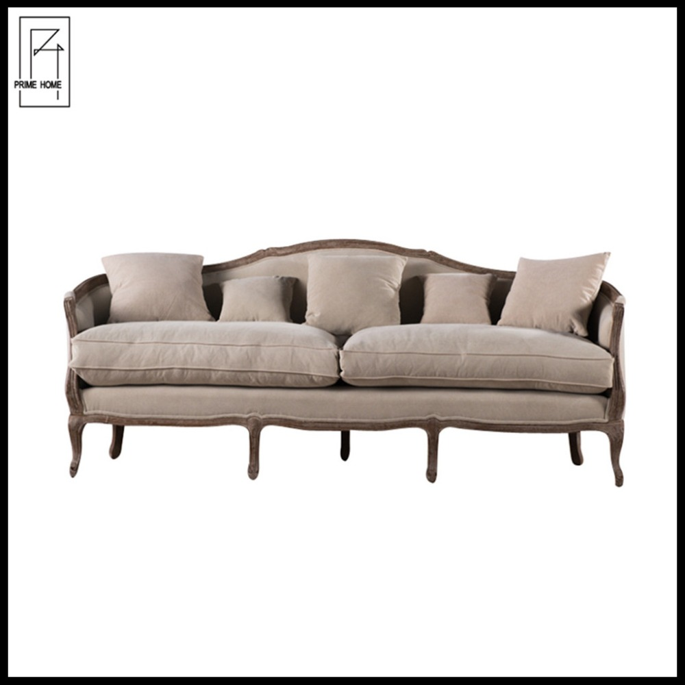 French wooden living room fabric settee/classic vintage loveseat sofa/sex sofa chair