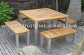 Larissa Bench & Larissa Square Table