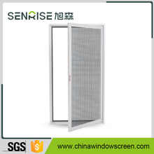 Wooden color stainless steel aluminium windows with mosquito net and fly screen
