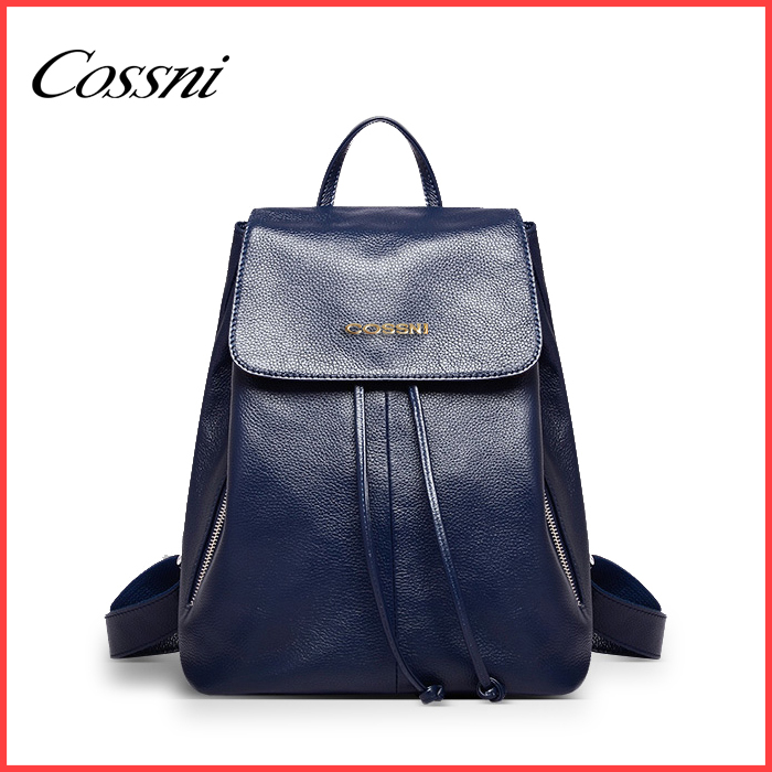 Europe and America style genuine leather fashion young ladies backpack school bags Made In China/mochila de la mujer