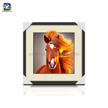 Wholesale/Customized stunning 3D/5D lenticular picture with horse ,3D flip picture,Animated Posters