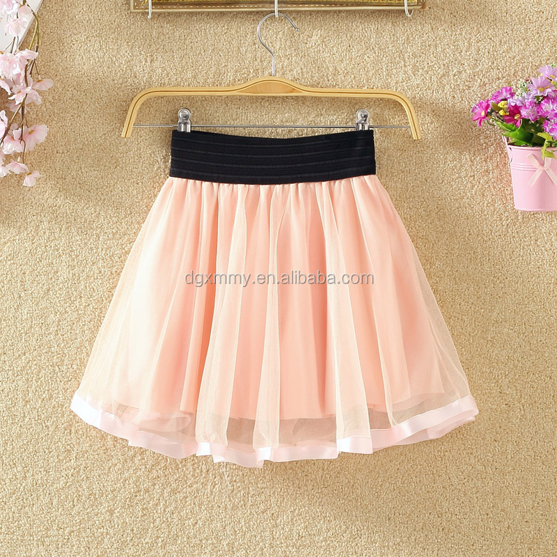 Rose Skirt Embroidery Skirt Girls Mini Skirt Net Puff Skirt Summer Bow Tie Thin Light A Word Black Pleated Skirt