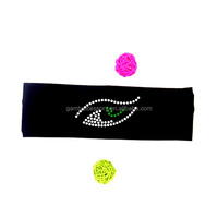 Fashion eagle eye headbands with rhinestones applique - apply for Sports, Fitness