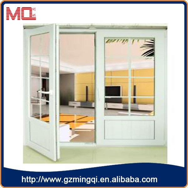 Australian standard office swing half doors/upvc double glass doors