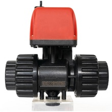 "PPO Body&Ceramic Ball DN20 G3/4""NPT DC6V12V24V Electric PVC Acting On 2-wire 2-day Actuator DC Electric Valve"