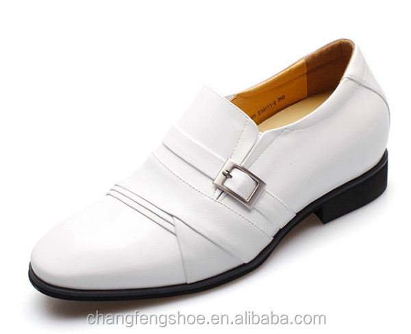 wedding dress shoes white leather wedge shoes for men