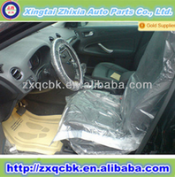 Hot selling strong quality transparent car seat cover/car front seat covers/PE car seat cover